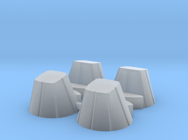 Ariane 4 PAL Skirts for the Heller kit in Smooth Fine Detail Plastic: 1:128