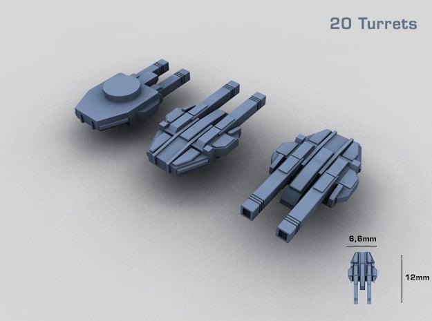 20 Starship twin turrets – MECHWORLD HOMEFLEET