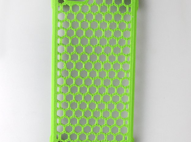 iPhone 6 shell Honeycomb in Green Processed Versatile Plastic