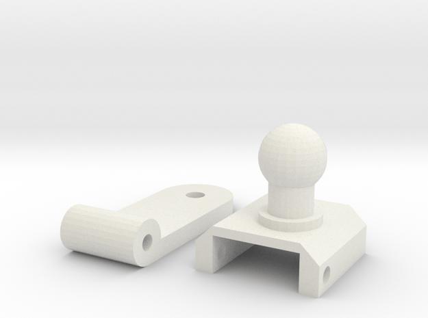 Zero Left Arm Hinge in White Natural Versatile Plastic