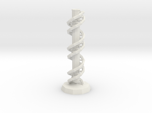 DNA Vase in White Natural Versatile Plastic