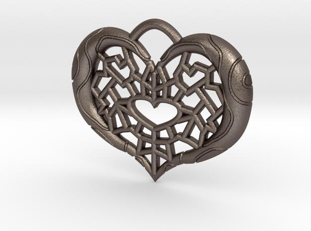 Twilight Princess Piece of Heart Webbing in Polished Bronzed Silver Steel