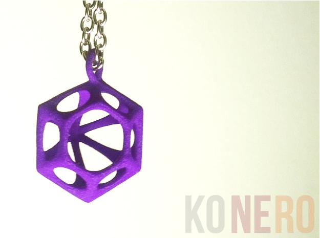 Diamante Pendente in Purple Processed Versatile Plastic