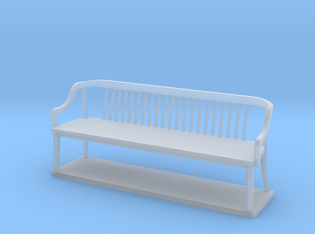 Miniature 1:48 Bankers Bench in Smooth Fine Detail Plastic