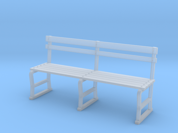 Miniature 1:48 Park Bench in Smooth Fine Detail Plastic