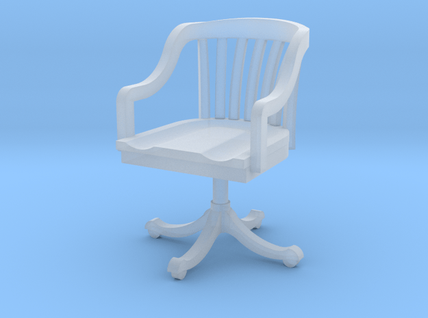 Miniature 1:48 Office Rolling Chair in Smooth Fine Detail Plastic