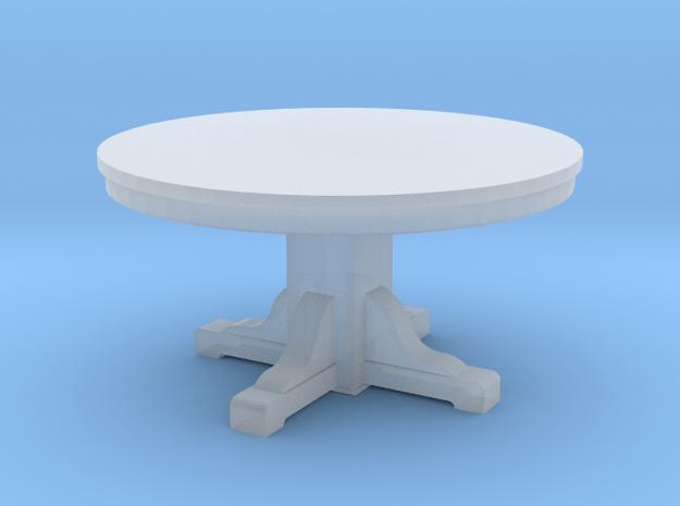 Miniature 1:48 Kitchen Table (4' Round) in Smooth Fine Detail Plastic