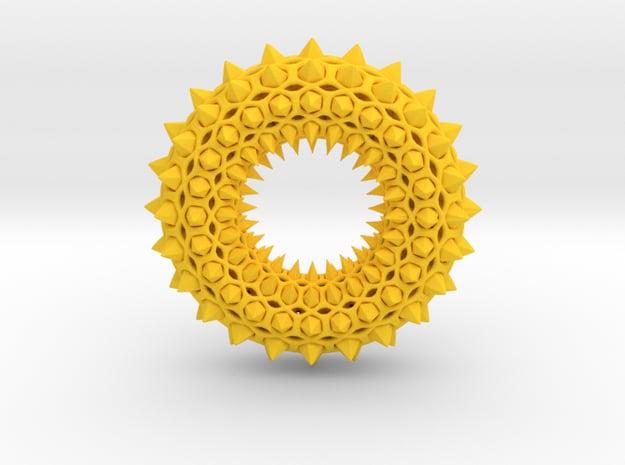 Fractal Punk Torus TD9 in Yellow Processed Versatile Plastic