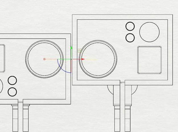 Frame'ish (Extended GoPro Mount for 3D) in White Natural Versatile Plastic