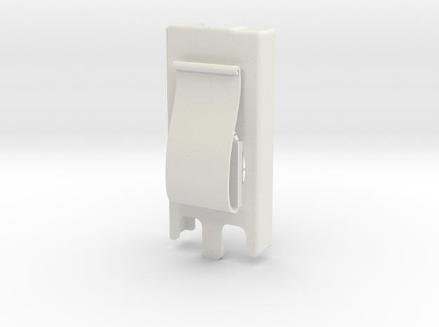 Dexcom Case w/ Flexible Belt Clip in White Natural Versatile Plastic