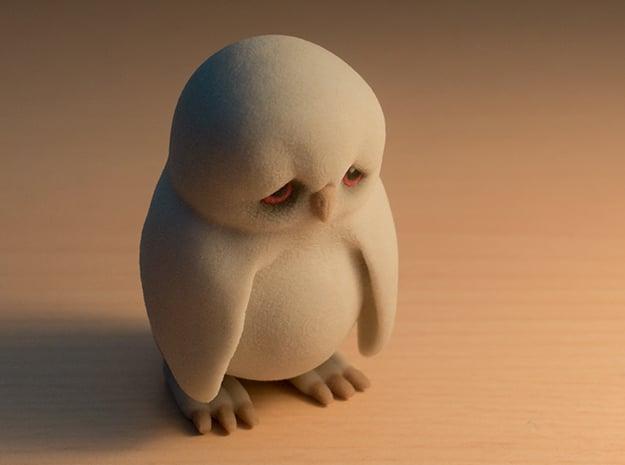 Sad Owl in Full Color Sandstone