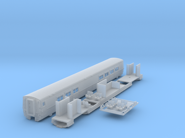 Amtrak LRC Cafe Car. N Scale in Smooth Fine Detail Plastic