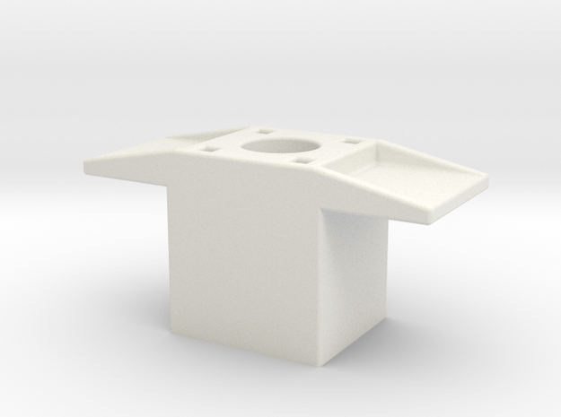 AMCC10 c-core bobbin winding spacer - 10mm dia sha in White Natural Versatile Plastic