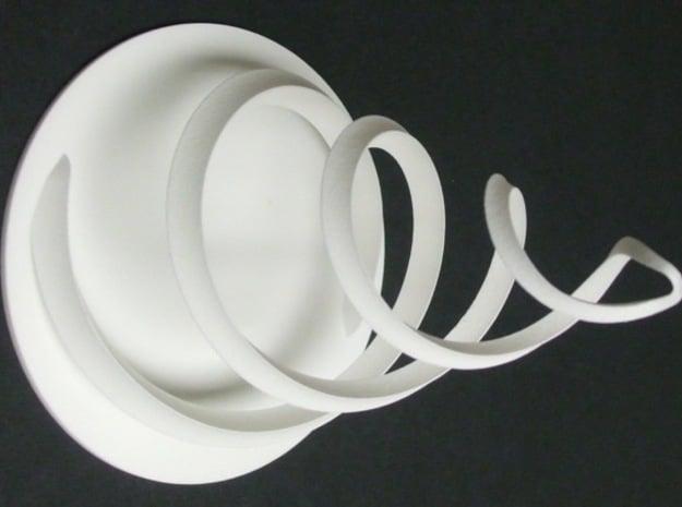 Intertwined 15cm 12 6 2014 in White Natural Versatile Plastic