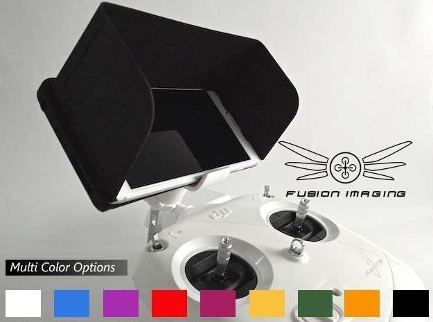 iPhone 6/6s Plus Visor / FPV Deep Hood in Black Natural Versatile Plastic