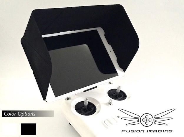 iPad Mini Visor / FPV Deep Hood - Easy Glide in Black Natural Versatile Plastic