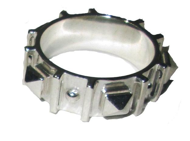 Edwardian Guard II Ring - Sz. 8 in Fine Detail Polished Silver