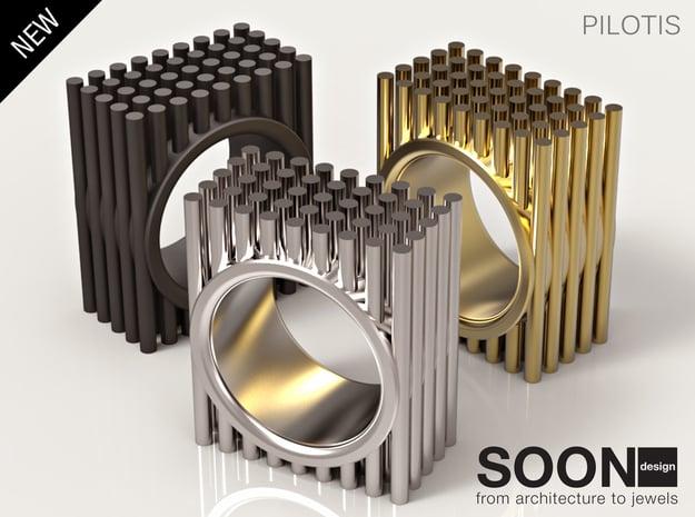 PILOTIS RING - SIZE 7 in Polished Brass