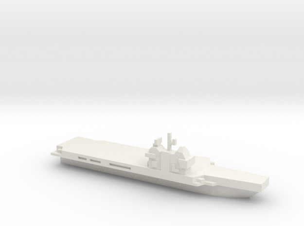 Aircraft Carrier, Generic, Charles De Gaul like in White Natural Versatile Plastic