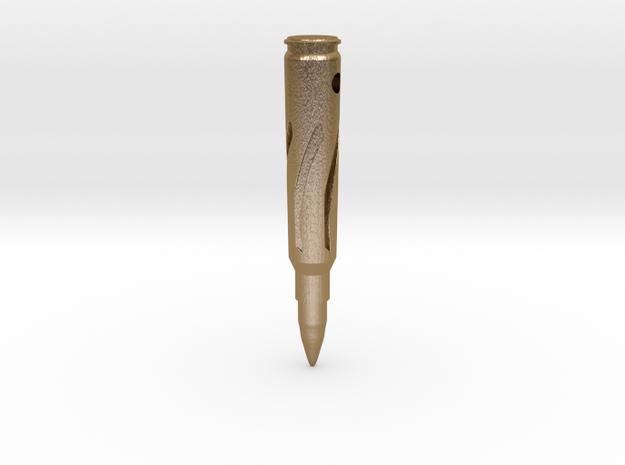 Bullet Pendant in Polished Gold Steel