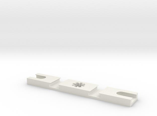 Iceblock Stick Joiner (2-way) in White Natural Versatile Plastic