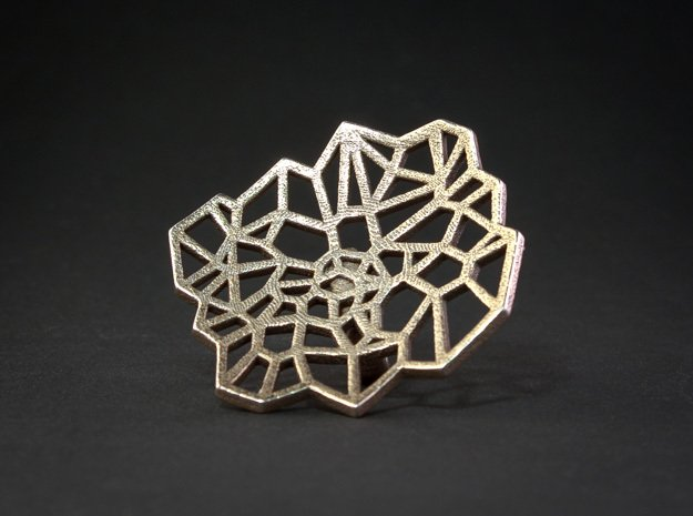 Ring of Arachne - Size 7 in Polished Bronzed Silver Steel