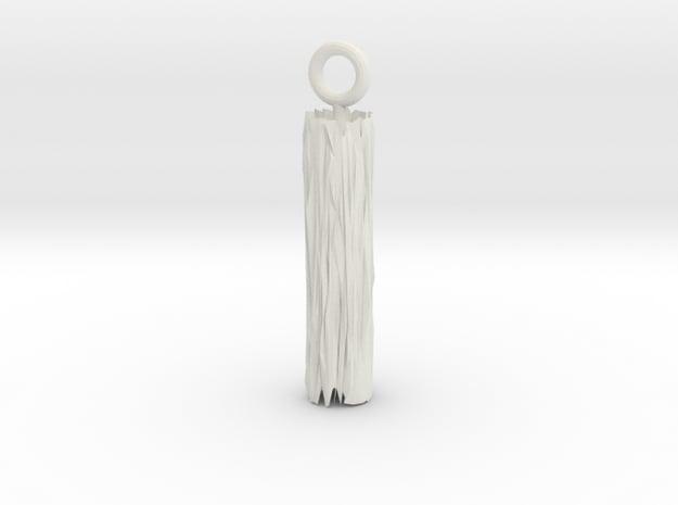 Edge Pendant in White Natural Versatile Plastic