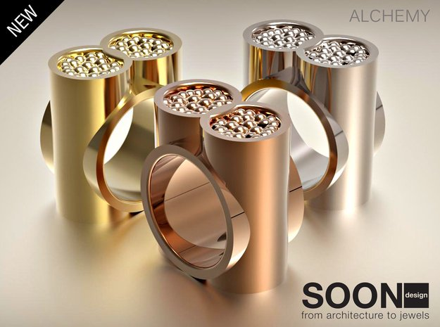 ALCHEMY RING - SIZE 7 in Polished Brass