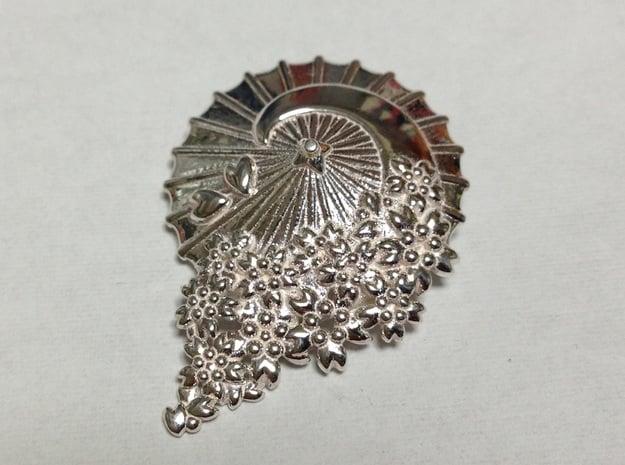 Wagasa ni SAKURA in Polished Silver