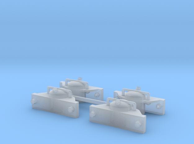 TGL Lorenachslager, 1:20, Achslagerbohrung 3mm  in Smooth Fine Detail Plastic