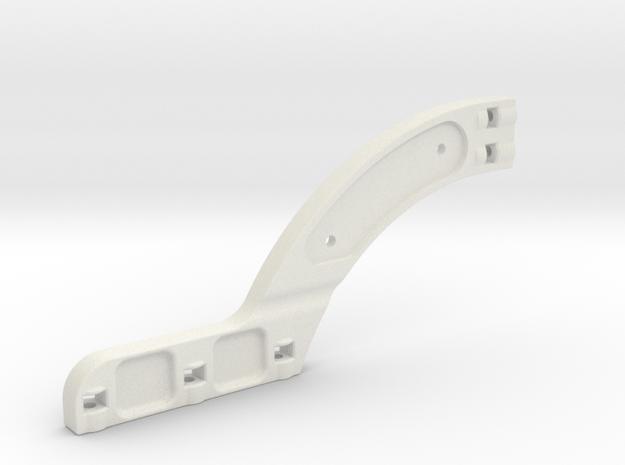rear chassi stiffener xray xb8 in White Natural Versatile Plastic