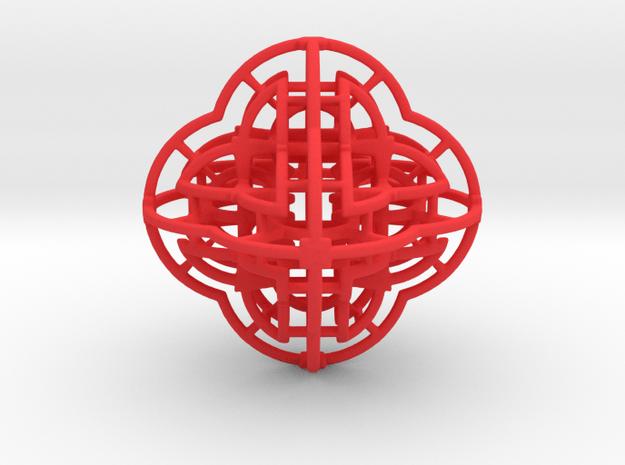 Fractal 113 in Red Processed Versatile Plastic