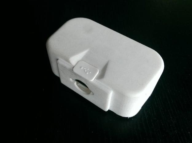 "DJI Phantom 1.5 Battery door  ""theONE""  SMALL in White Processed Versatile Plastic"