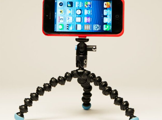 iPhone5 Camera Tripod Mount Case in White Natural Versatile Plastic