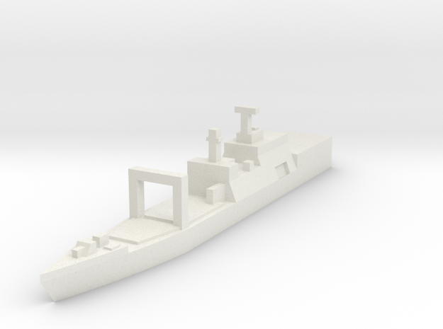 Naval, Auxiliary, Generic in White Natural Versatile Plastic