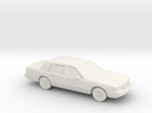 1/87 1996 Lincoln Town Car  in White Natural Versatile Plastic