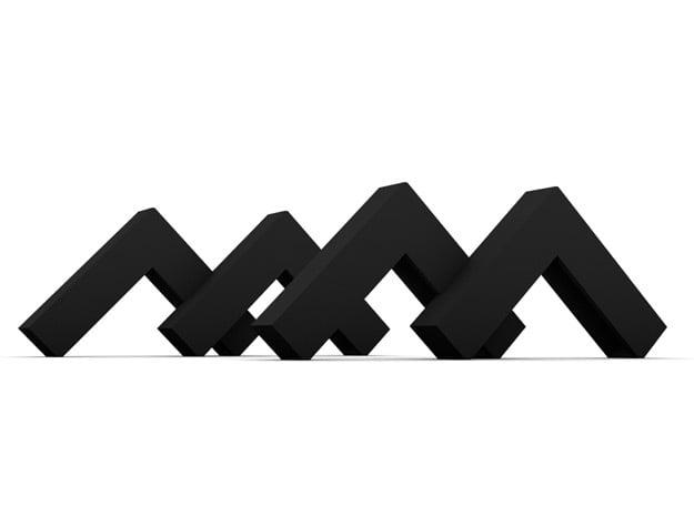 Mstand x 2 in Black Natural Versatile Plastic