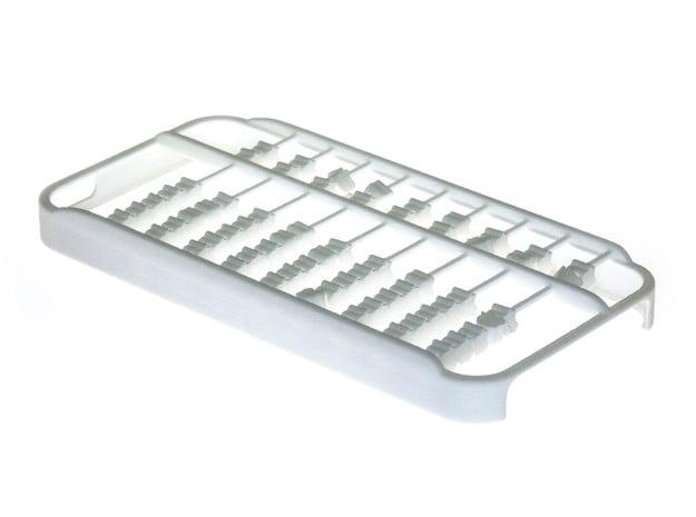 Abacus iPhone 5 / 5s Case in White Processed Versatile Plastic