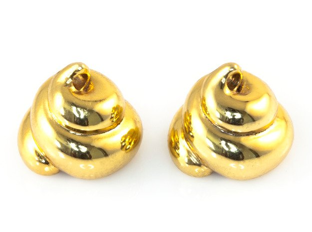 Lucky Golden Poo Earrings in 18K Gold Plated