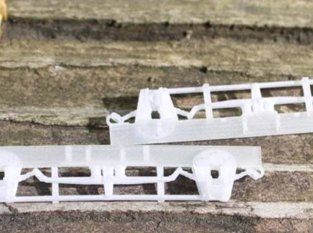 DSP Waycar Running Gear Mk1 HO/HOn3 in Smooth Fine Detail Plastic