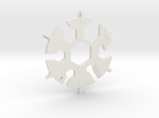 Snowflake Multi Tool in White Natural Versatile Plastic