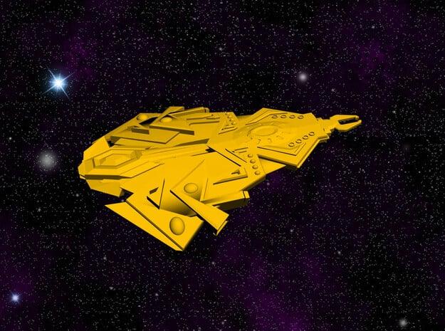 Cardassian TEROK Battleship in White Natural Versatile Plastic