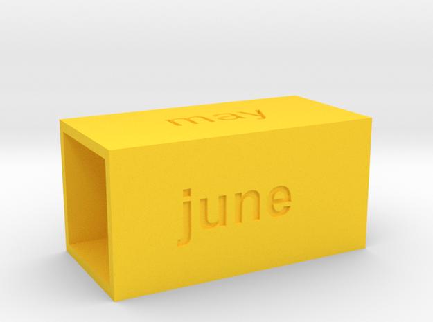 Calendar2 in Yellow Processed Versatile Plastic