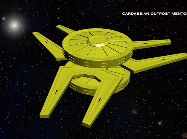 Cardassian Outpost Mentok Nor in White Natural Versatile Plastic