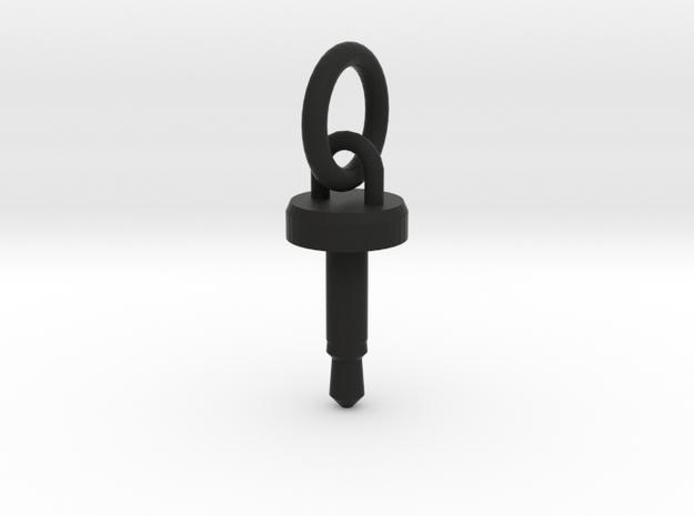 Cellphone Charm in Black Natural Versatile Plastic