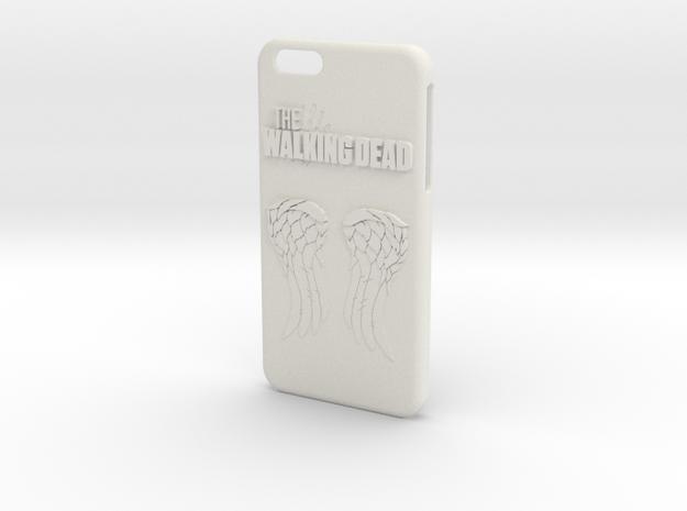 Walking Dead Iphone 6 Plus Case in White Natural Versatile Plastic