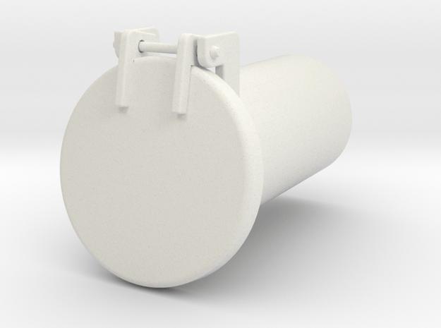 Sand Hatch in White Natural Versatile Plastic