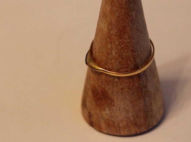 Edge Ring US Size 9.25 UK Size S 1/4 in 18K Gold Plated