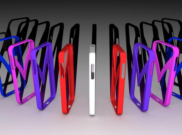 iPhone 5 case MV in Red Processed Versatile Plastic