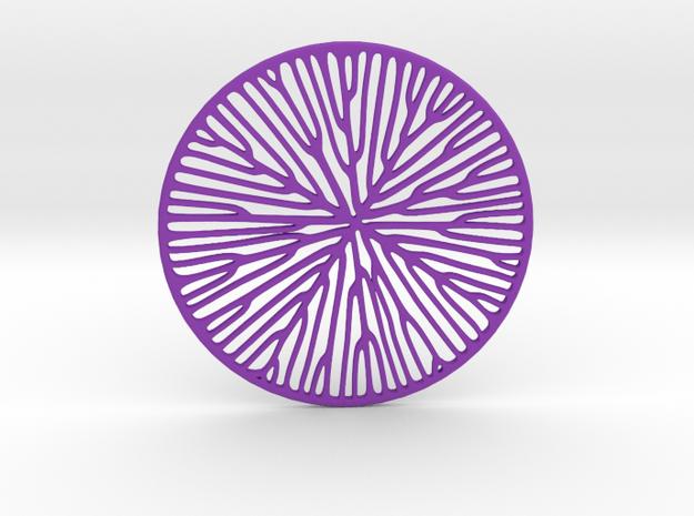 Tree pendant in Purple Processed Versatile Plastic